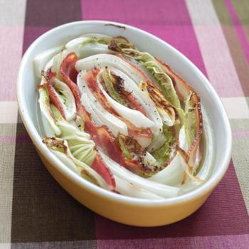 白菜とベーコンのオーブン焼き