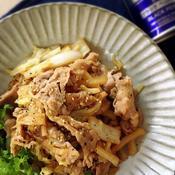 白菜と豚肉の黒胡椒炒め