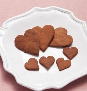 【米粉のハートココアクッキー】