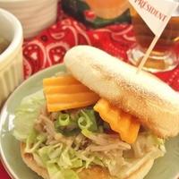 美味しいチーズをIN♪【ガリ福】きのこのイングリッシュマフィン