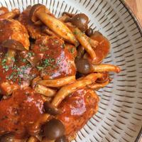 袋でモミモミ♪簡単トマト煮込みハンバーグ