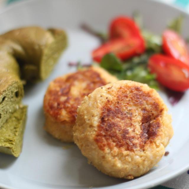 ベジ向け高タンパク料理☆ヒヨコ豆とキヌアのナゲット