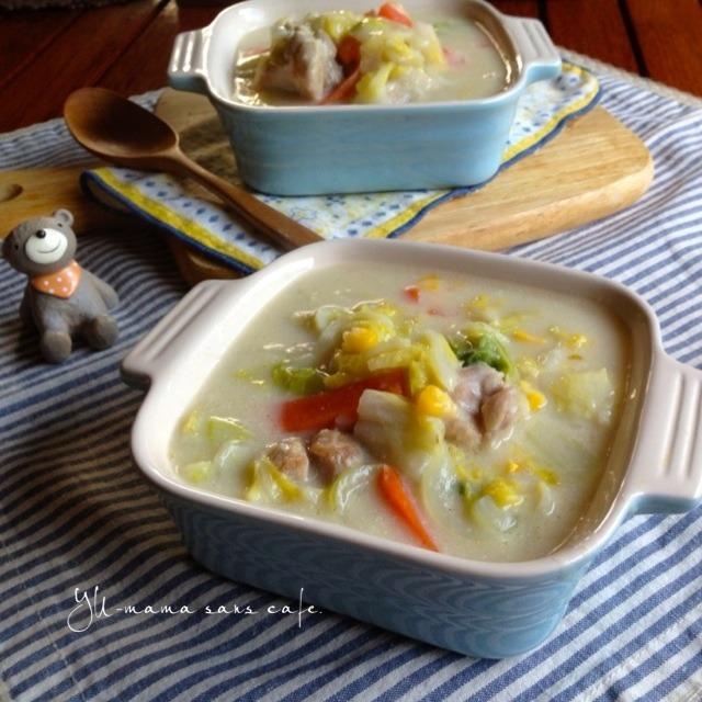 鶏肉と白菜のクリーム煮〜寒い冬にお手軽レシピ〜