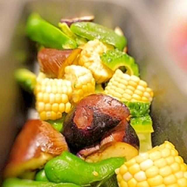 夏野菜のトースターグリル