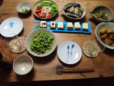 旅行前日の夕食