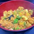 鯖缶と夏野菜のキーマカレー