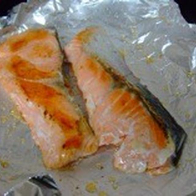 フライパン用ホイルシートで焼き魚