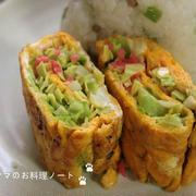 シャキシャキキャベツと紅ショウガの卵焼き by nickyさん