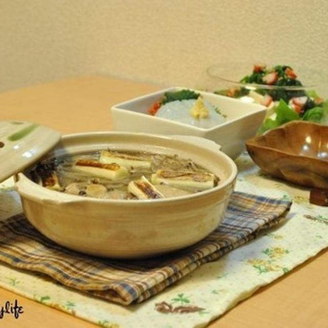☆鶏の水炊き&春菊サラダ 遅いスタート19日夜ご飯☆
