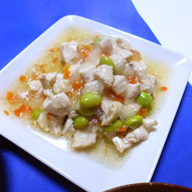 【白だし×ごま油】豆腐ステーキ 鶏胸肉と野菜あんかけのせ