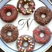 【バレンタインレシピ】糖質オフの焼きドーナツ、小麦粉を使わず大豆粉100%使用です
