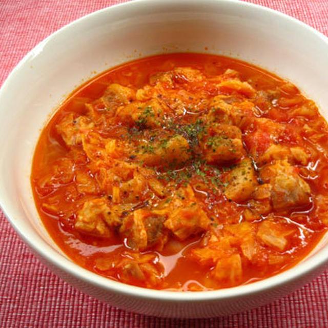 ポークキャベツトマトスープ