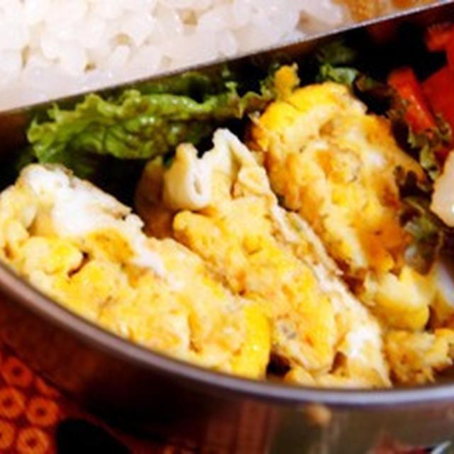 世紀末弁当救世主伝説、ふりかけ卵焼きと竹輪と人参のタラマヨ炒め……