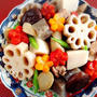 飾り切りで『がめ煮♪』又は筑前煮と言う美味しく定番の煮物(^^) 白菜漬け&聖護院大根で千枚漬~参鶏湯やお漬物や色々ペタり(笑)