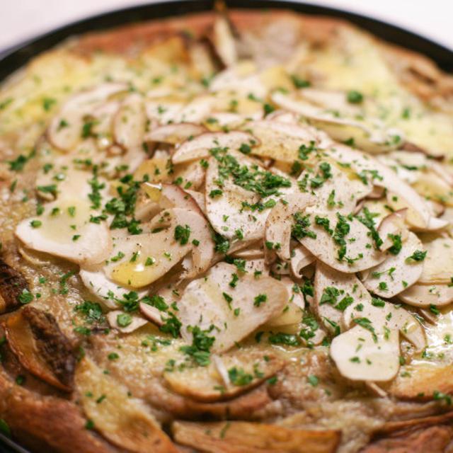 Pizza bianca ai funghi porcini 🍄 生ポルチーニ茸の健康ピッツァ