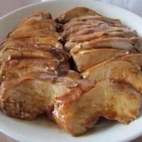電子レンジで簡単♪鶏肉の照り煮♪全粒粉食パン♪