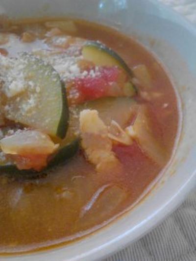 ランチ『ラタトゥイユスープ』と『惣菜パン』