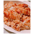 フライパンで簡単!石焼ビビンバ風♡明太子&チーズおこげご飯♪