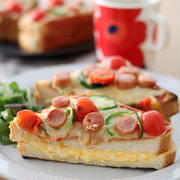 厚焼きも簡単!「BRUNO」のオーブントースターで作る「カフェ風ピザトースト」