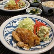 休肝日 ・ 豚の生姜焼きと小松菜のたいたの