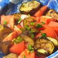 超簡単!トマトと揚げ茄子のニラ醤油和え