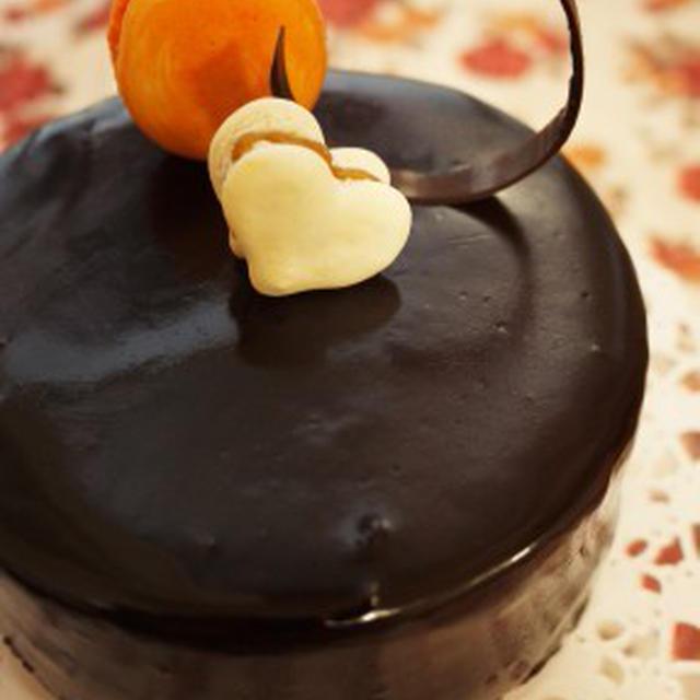 プレゼントボックスなケーキの残りで・・・ そして、簡単☆チョコ細工