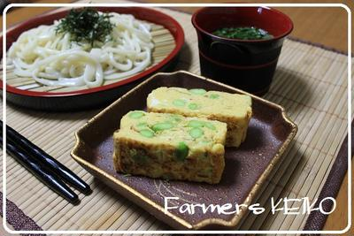 昨日のお昼ご飯 ~レシピは『枝豆入りだし巻き玉子』です~