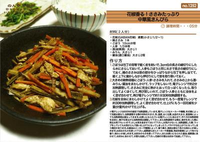 花椒香る!ささみたっぷり中華風きんぴら 電子レンジ料理 -Recipe No.1252-