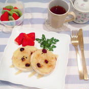 林檎×クランベリーのメープルトースト