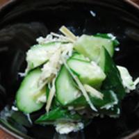 きゅうりの生姜塩麹和え
