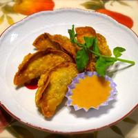 「揚げ餃子」ドレッシングディップ