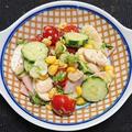 セロリ風味のハムと野菜サラダ