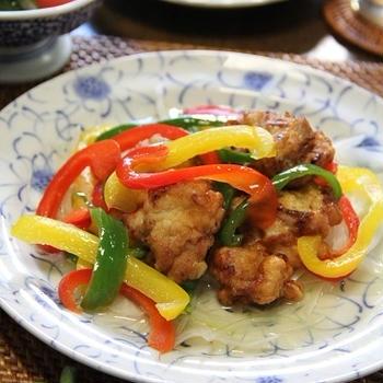 カンタン酢1本で!鶏肉のカラフルマリネ。