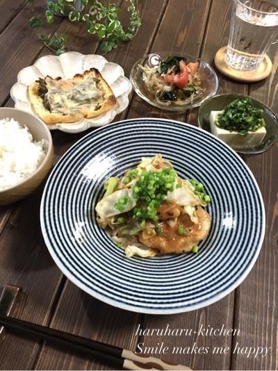 タレが絶品♡むね肉ときゃべつの甘辛味噌炒め♪…ユニフォームの結果。