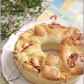【レシピ】3種チーズのリングパン。と 奈良巡り。