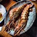 簡単おもてなし料理-1 有頭海老の塩焼き