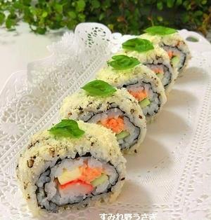 Wチーズのサラダ巻き寿司