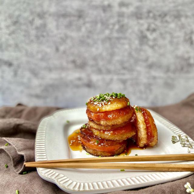 vegan(ヴィーガン)レシピ。新食感?大根とトマトの挟み揚げの作り方