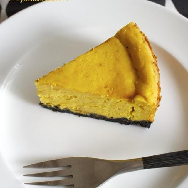 かぼちゃのチーズケーキ*ハロウィンに