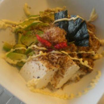 アボガド納豆豆腐丼