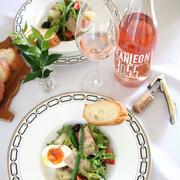 特撰ツナトロのニース風サラダと、ジャン・レオンのロゼワイン。