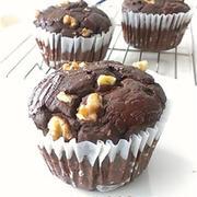 ダブルチョコ- おからマフィン 小麦粉不使用~低糖質