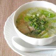 3分煮るだけ☆鶏挽肉と白菜の春雨スープ【#3分 #簡単 #体ポカポカ】