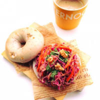 カフェ風朝食☆ベーグルサンドとリプトンの紅茶
