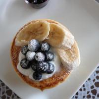 ブルーベリーで贅沢な朝食☆赤ちゃんも食べれるホットケーキ