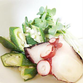 蛸とオクラの夏酢の物