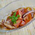 乾しいたけの自家製めんつゆで♪ひんやりトマト素麺