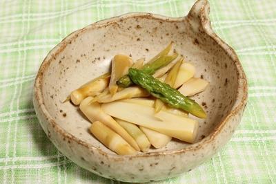 細竹とアスパラガスのコンソメ炒め 調理時間15~30分
