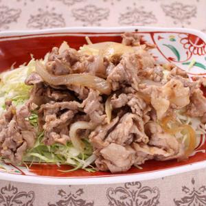 キャベツたっぷり豚こま生姜焼き