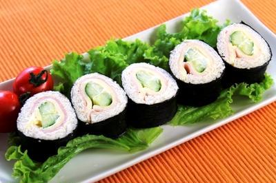 のり巻きサンドイッチ(ハムチーズきゅうり)
